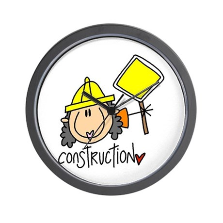 Female Construction Worker Wall Clock