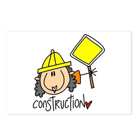 Female Construction Worker Postcards (Package of 8
