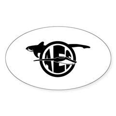 AES Classic Logo Oval Decal