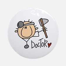 Male Doctor Ornament (Round)