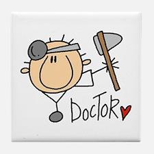 Male Doctor Tile Coaster