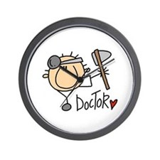 Male Doctor Wall Clock