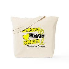 PEACE LOVE CURE TestCanc Tote Bag
