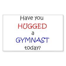 Hug a Gymnast Rectangle Decal