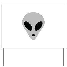 alien head Yard Sign