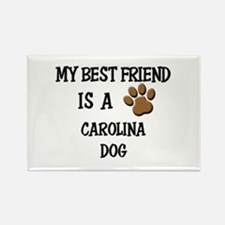 My best friend is a CAROLINA DOG Rectangle Magnet