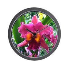 Lavender Bearded Orchid flower Wall Clock