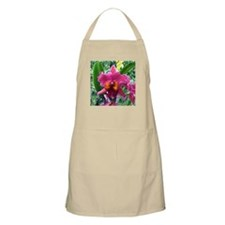Lavender Bearded Orchid flower BBQ Apron