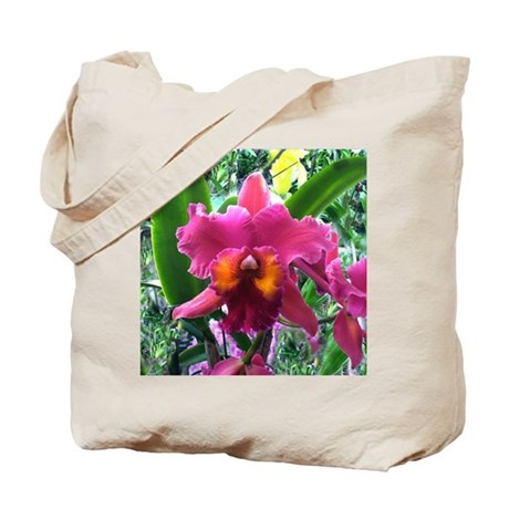 Lavender Bearded Orchid flower Tote Bag
