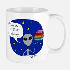 Take Me To Your Library Mug