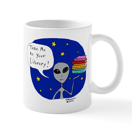 Take Me To Your Library Mug