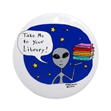 Take Me To Your Library Ornament (Round)