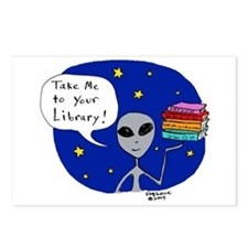 Take Me To Your Library Postcards (Package of 8)