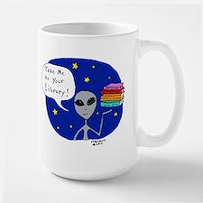 Take Me To Your Library Large Mug