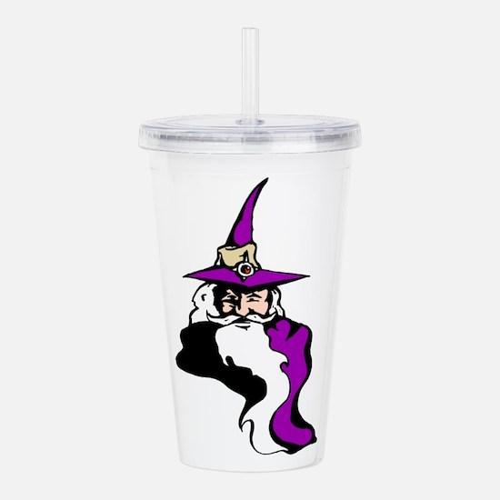 Purple Wizard Acrylic Double-Wall Tumbler