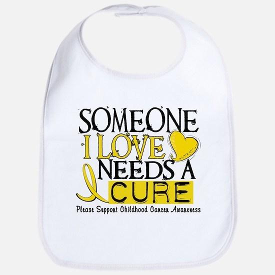Needs A Cure CHILDHOOD CANCER Bib