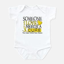Needs A Cure CHILDHOOD CANCER Infant Bodysuit