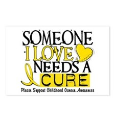 Needs A Cure CHILDHOOD CANCER Postcards (Package o