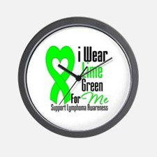 I Wear Lime Green For Me Wall Clock