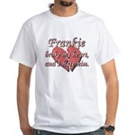 Frankie broke my heart and I hate him White T-Shir