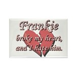 Frankie broke my heart and I hate him Rectangle Ma