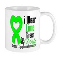 Lymphoma Heart Wife Mug