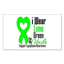 Lymphoma Heart Uncle Rectangle Decal