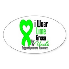 Lymphoma Heart Uncle Oval Decal