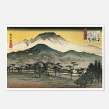 Utagawa Evening Temple Postcards (Package of 8)