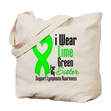 Lymphoma Heart Sister Tote Bag