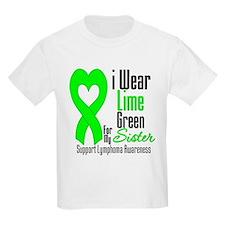 Lymphoma Heart Sister T-Shirt