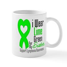 Lymphoma Heart Sister Mug