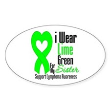 Lymphoma Heart Sister Oval Decal