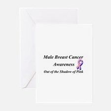 Male Breast Cancer Greeting Cards (Pk of 10)