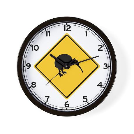 Caution With Kiwis, New Zealand Wall Clock