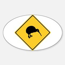Caution With Kiwis, New Zealand Oval Decal