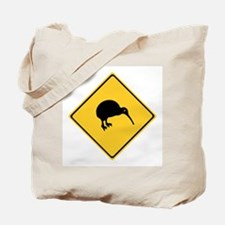 Caution With Kiwis, New Zealand Tote Bag