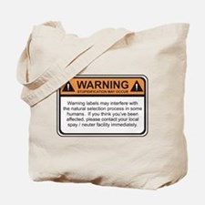 Warning Label Tote Bag