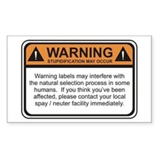 Warning Label Rectangle Decal