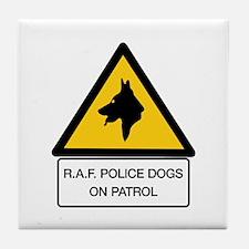 R.A.F. Police Dogs On Patrol, UK Tile Coaster