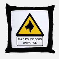 R.A.F. Police Dogs On Patrol, UK Throw Pillow