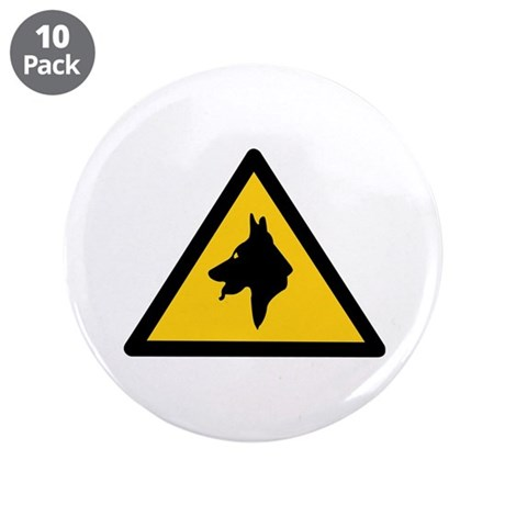"""RAF Police Dogs On Patrol, UK 3.5"""" Button (10 pack"""