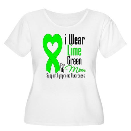 Lymphoma Heart Mom Women's Plus Size Scoop Neck T-