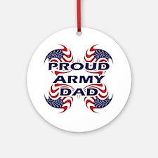 Patriotic Proud Army Dad Ornament (Round)