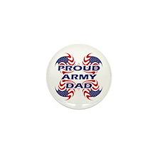 Patriotic Proud Army Dad Mini Button