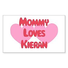 Mommy Loves Kieran Rectangle Decal