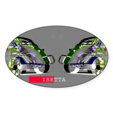 Isetta Oval Decal