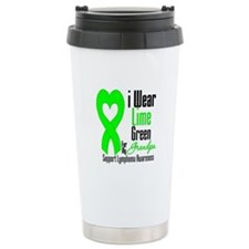 Lymphoma Heart Grandpa Travel Coffee Mug