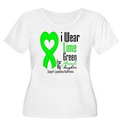 Lymphoma Heart Granddaughter T-Shirt