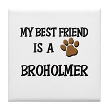 My best friend is a BROHOLMER Tile Coaster